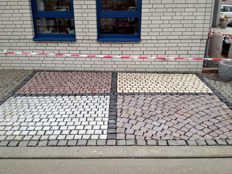 Parkplatz-bau, Naturstein arbeit