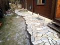 Natur Steinarbeit, Garten umgestalltung, Wegebau