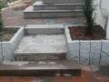 Beton Ploygonalplatten bau, Mauerbau, Treppebau